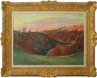 coucher du soleil dans la creuse by armand guillaumin