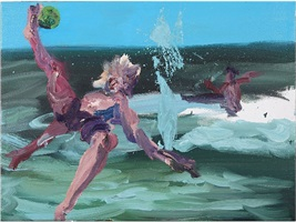 ballspiel am meer by rainer fetting