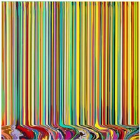 puddle painting: pale green, yellow by ian davenport
