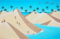 brincando nas dunas - playing in the sand hill by rodolpho tamanini netto
