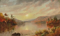 autumn lake by jasper francis cropsey