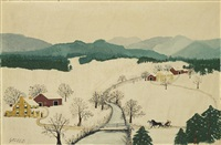 over the river to grandma's house on thanksgiving day © grandma moses properties co., new york by grandma moses
