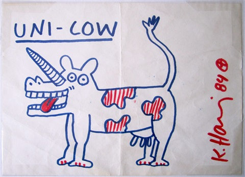 uni cow by keith haring
