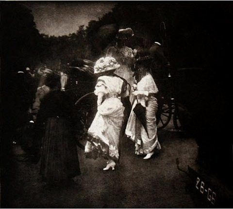 grand prix at longchamp: after the races, paris, 1907 by edward steichen