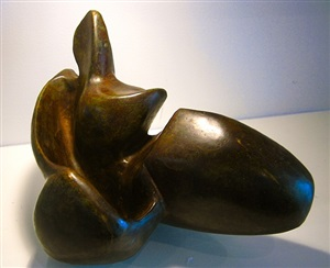 oeuvre no. 10 (seated figure) by bruno champly