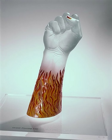 grand flaming fist by judy chicago
