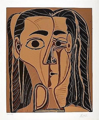 jacqueline au bandeau de face by pablo picasso