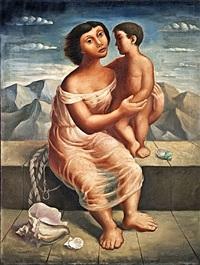 madre e hijo by mario carreño