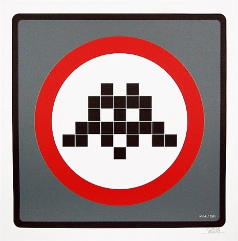 warning by invader