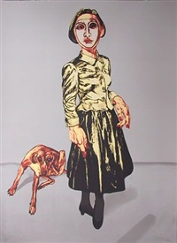 lady with dog by zeng fanzhi