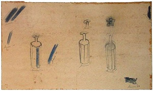 bottles and flowers by morris graves