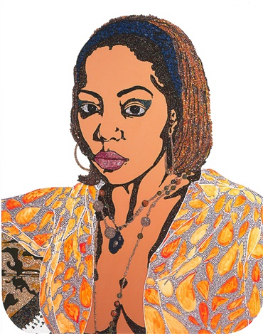 portrait of lovely six foota 1 edition 1150 by mickalene thomas