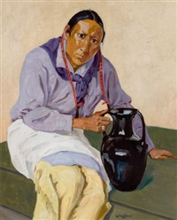 man with olla by walter ufer