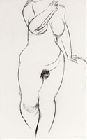 nude with leg back by sir anthony caro