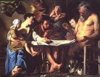 the satyr and the peasant family by jacob jordaens