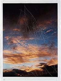 untitled (scratched sky, i) by jim hodges