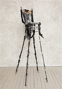 backthrone xv by wangechi mutu