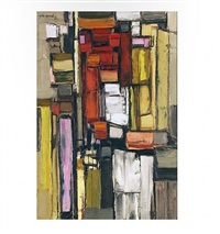 vertical structure: red & yellow by john copnall