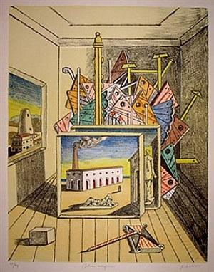 interno metafisico by giorgio de chirico