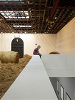 installation view, harvest, 2012 by elmgreen & dragset