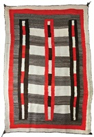 navajo double saddle blanket