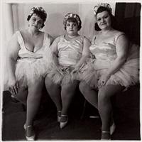 three circus ballerinas by diane arbus