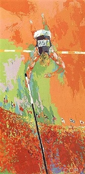 olympic pole vaulting by leroy neiman