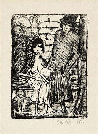 polnische familie by otto mueller