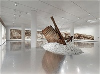 installation view of 'a clan of boats', faurschou foundation, copenhagen, 2012. by cai guo-qiang