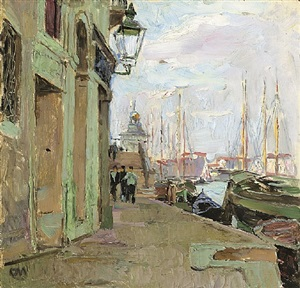 am zattere in venedig by carl moll