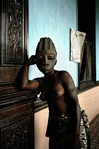untitled (demoiselles de porto-novo series) by leonce raphael agbodjelou