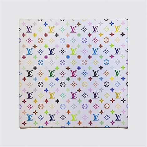 lv monogram multicolor white by takashi murakami