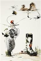 instant landscape-telephone pole #1 by kim nam-pyo