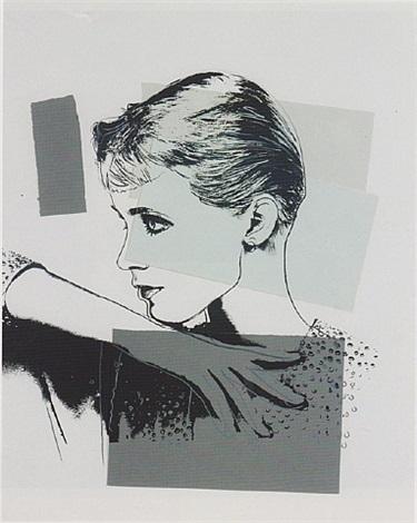 unidentified woman (halston model) by andy warhol