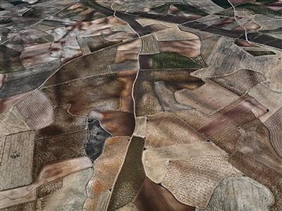 dryland farming #31, monegros county, aragon, spain, 2010 by edward burtynsky