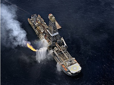 oil spill #6, discoverer enterprise, gulf of mexico, june 24, 2010 by edward burtynsky