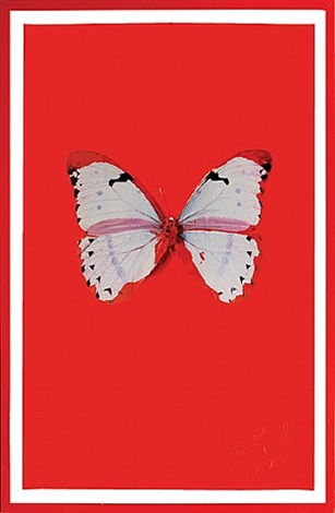 untitled (red butterfly) by damien hirst