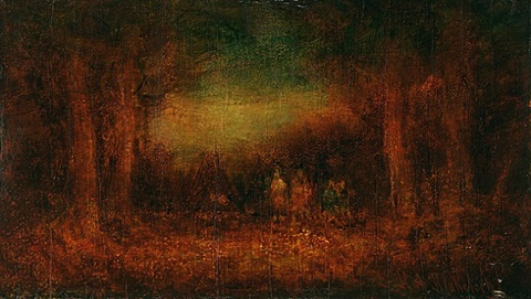 the pow wow by ralph albert blakelock
