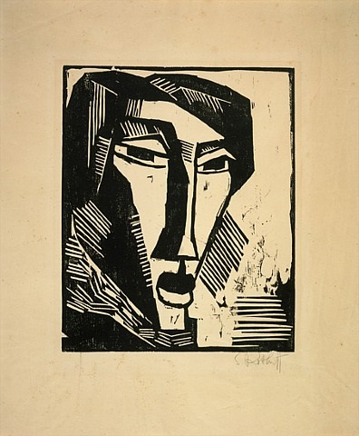 head of a woman by karl schmidt-rottluff
