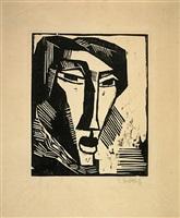 head of a woman by karl schmidt-rottluff