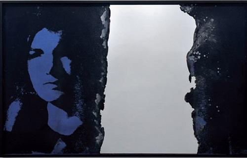 self portrait of you + me (oversized jackie) by douglas gordon