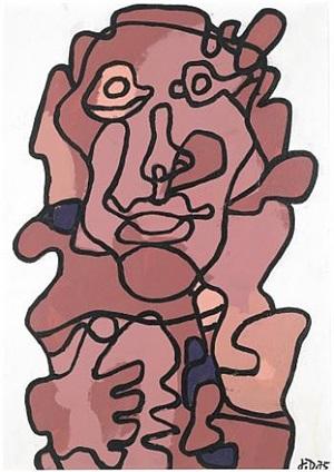 effigie incertaine x by jean dubuffet