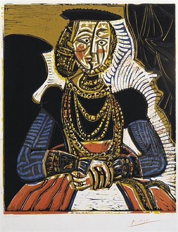 portrait of a woman after cranach the younger by pablo picasso