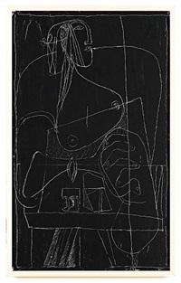femme à la bougie by le corbusier