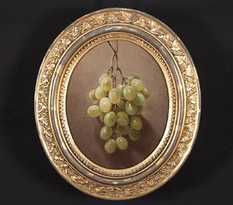 hanging green grapes by william rickarby miller