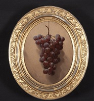 hanging concord grapes by william rickarby miller