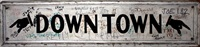 downtown (vintage wooden sign) by taki 183