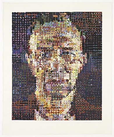 alex (color) by chuck close