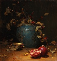 pomegranate & vines (sold) by grace mehan de vito