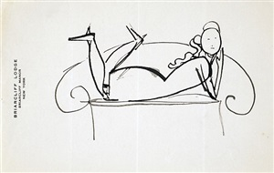 woman on settee by elie nadelman